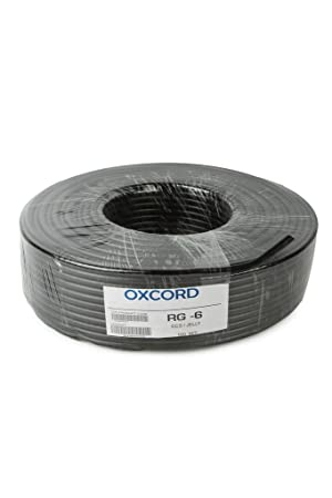 OXCORD RG-6 Co-axial TV CABLE CCS 90MTR,BLACK(CW-0006-BK-RG-6-CCS)