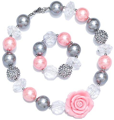 LYLYMIMI Kids Toddler Jewelry for Girls Chunky Bubblegum