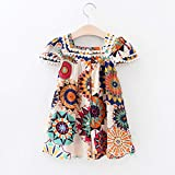 Hipea Toddler Baby Girl Clothes Bohemian Sleeveless Flower Princess Floral Formal Kids Summer Dress