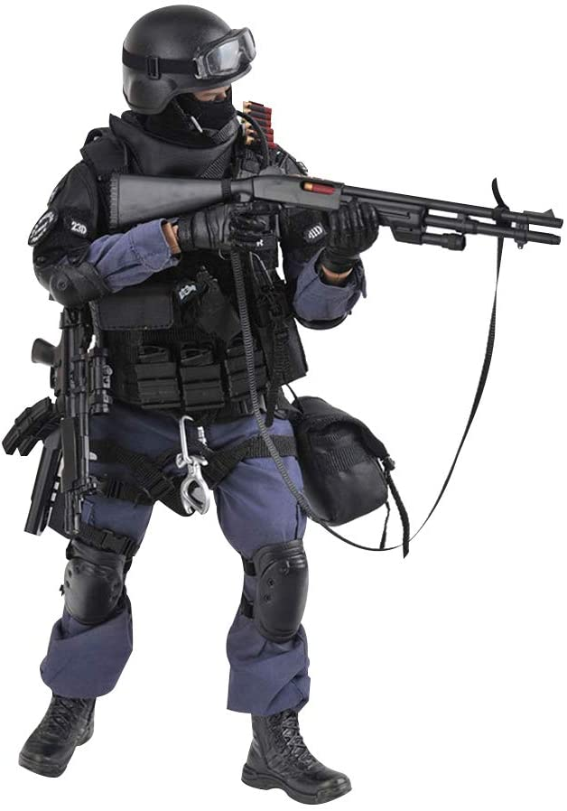 Amazon.com: YEIBOBO ! Highly Detail Special Forces 12inch Action Figure SWAT Team (ASSUALTER): Toys & Games