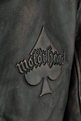 Motörhead England Veste en Cuir Noir 3XL