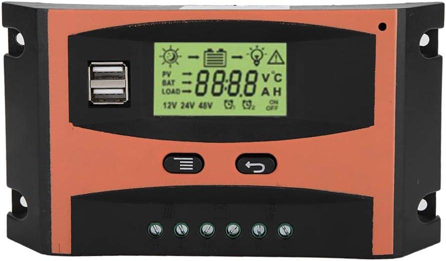 MPPT Panel Regulador Solar 12V / 24V MPPT Controlador de carga solar Pantalla LCD Controlador de batería automático(60A)