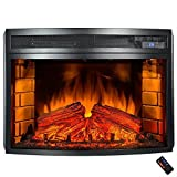 Best Wood Heater With Remote Controls - 25 in. Freestanding Electric Fireplace Insert Heater in Review