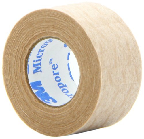 3M Micropore 1' x 10 yd. Tan Surgical Tape - Box of 12