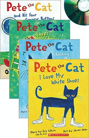 pete the cat by eric litwin audio set includes 4 paperbacks and 4 cds pete - Pete The Cat Saves Christmas