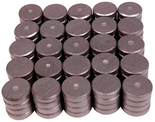 Creative Hobbies Ceramic Industrial Magnets - Round Disc - Ferrite Magnets Bulk for Crafts, Science&hobbies - Grade 5 - 100pcs/box! (Round Signs Magnetic)
