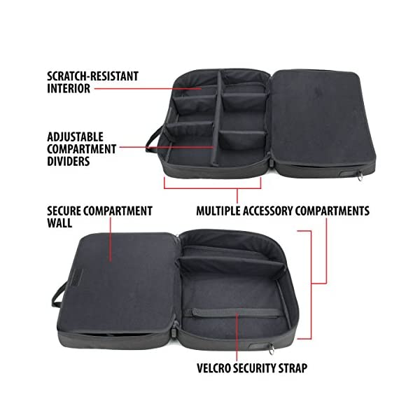 USA GEAR Console Carrying Case Compatible with Xbox One and Xbox 360 with Accessory Storage for Controllers, Cables… 4