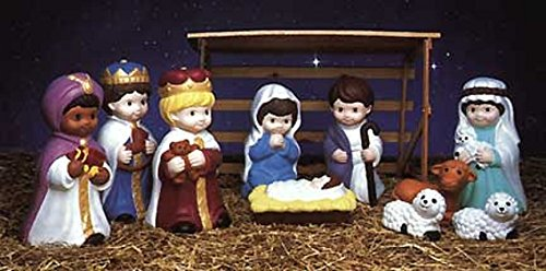 Amazon lighted light up christmas indooroutdoor yard or lawn amazon lighted light up christmas indooroutdoor yard or lawn decorations child nativity scene set home kitchen aloadofball Images