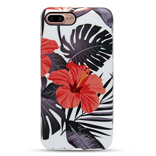 GOLINK iPhone 7 Plus Case for Girls/iPhone 8 Plus Floral Case, MATTE Floral Series Slim-Fit Anti-Scratch Shock Proof Anti-Finger Print Flexible TPU Gel Case For iPhone 7/8 Plus 5.5