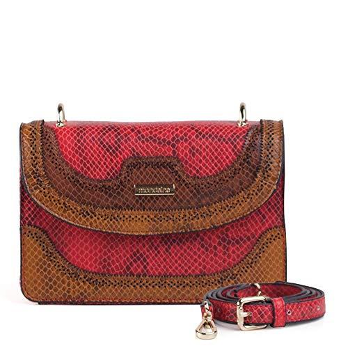 Bolsa Pequena Transversal Marrom E Vermelha Phyton