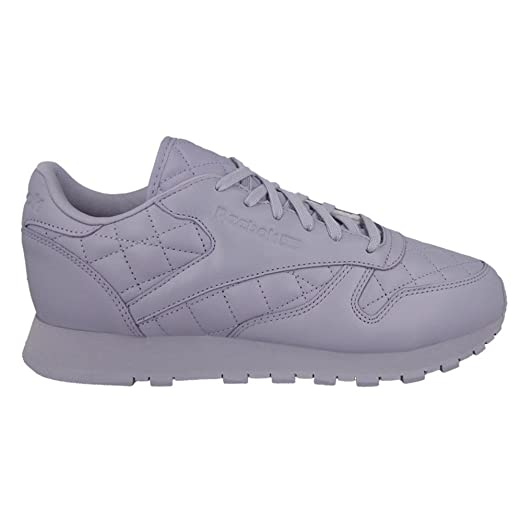 9a990aed1df16 Amazon.com  Reebok Classic Leather Quilted Womens Sneakers Purple  Clothing