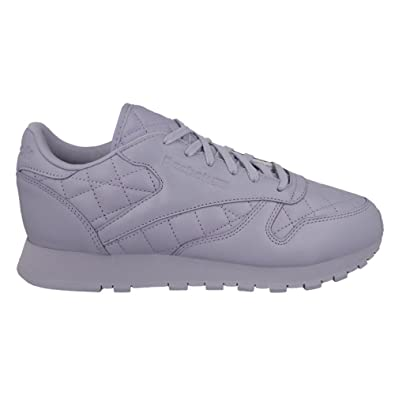 Reebok Classic Leather Quilted Damen Sneaker Lila: