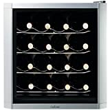MD Group Bottle Wine Cooler 16 Bottle Capacity Thermoelectric Cooling Glass Door Design Adjustable Feet Countertop Bottles Storage