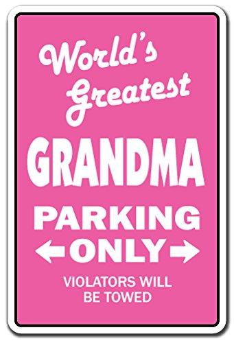 (WORLD'S GREATEST GRANDMA Sign grandchildren grand kids grandmother| Indoor/Outdoor | 12