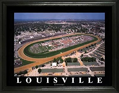 Kentucky Derby - Churchill Downs Aerial - Lg - Framed Poster Print