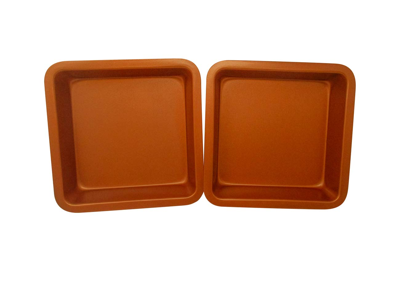Set of 2 Copper Colored Square Baking Tin Pan by Trademark Innovations