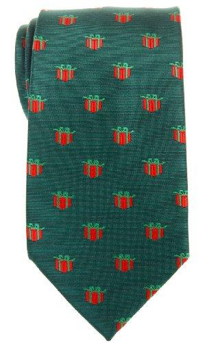 Retreez Christmas Gift Graphic Woven Microfiber Mens Tie - Green, Christmas Gift