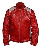 MSHC Men's Michael Jackson Beat It Faux Leather Jacket Large Red