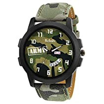 Relish Army Day and Date Wrist Watch for Boys and Mens