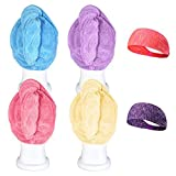 Bleaching Hair Using Cap - CUH 4 Packs Microfiber Hair Towel Super Absorbent Turban Wrap With 2 Bonus Headbands