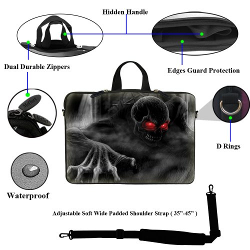 inch Sleeve Laptop and Handle Neoprene Strap 6 Adjustable with Dark 15 Bag Lord Case Hidden Shoulder Carrying Computer 15 Portable SqEnX