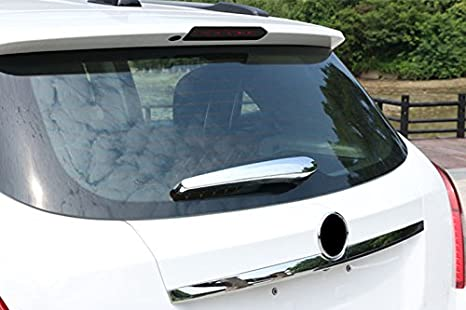 ABS Chrome trasera ventana limpiaparabrisas noozle Cover Trim 1pcs: Amazon.es: Coche y moto