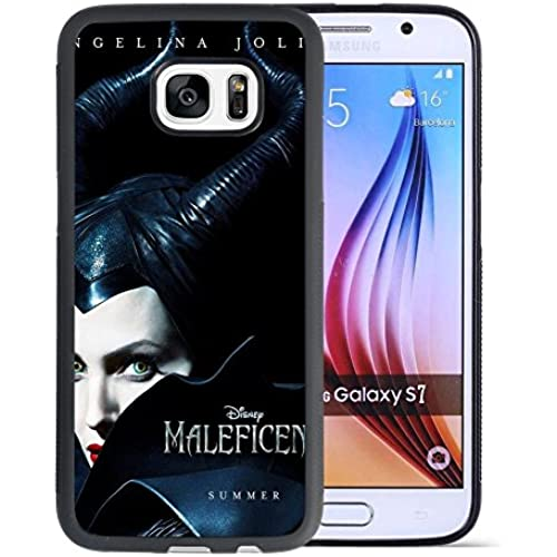 Maleficent Samsung Galaxy S7 Case, Onelee [Never fade] Disney Sleeping Beauty Maleficent Samsung Galaxy S7 Black TPU and PC Case [Scratch proof] [Drop Sales