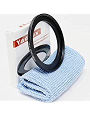 Yadsux 52mm to 58mm Step-Up Lens Adapter Ring for Camera Lenses Filters,Metal Filters Step Up Ring Adapter,The Connection 52MM Lens to 58MM Filter Lens Accessory,Cleaning Cloth with Lens