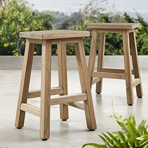 Member's Mark Cedar Charleston Stools Set of 2
