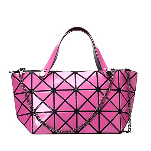 Tide Diagonal Style Shoulder Bag Rosered Lingge Estilo Bag Japonés Bag Chain Pack Moda PXwqzFF