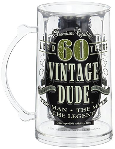 Laid Back CF11004 60th BD Vintage Dude Tankard, 14-Ounce