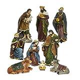 Kurt Adler 1.75-Inch-8-Inch Polyester Nativity Set of 9 Pieces 9