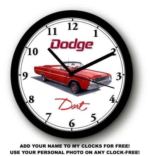 1967 DODGE DART CONVERTIBLE WALL CLOCK-Free USA (Car Color Wall Clock)