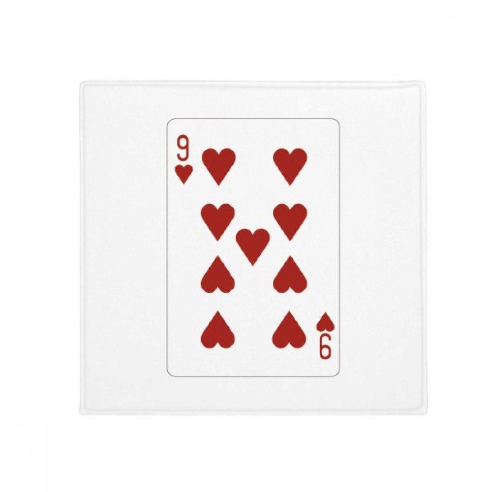 DIYthinker Heart 9 Playing Cards Pattern Anti-Slip Floor Pet Mat Square Home Kitchen Door 80Cm Gift