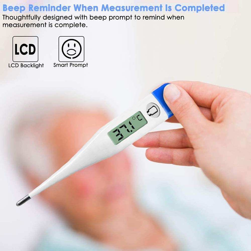 axillar oder rektal LCD Digitales Fieberthermometer wasserfest oral Thermometer f/ür Baby Kinder Erwachsene Thermometer Elektronische Kopf Temperatur Mess Werkzeuge Signalton Fieberalarm-2 Pack