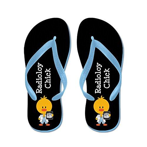 Cafepress Radiologi Chick - Flip Flops, Roliga Rem Sandaler, Strand Sandaler Caribbean Blue