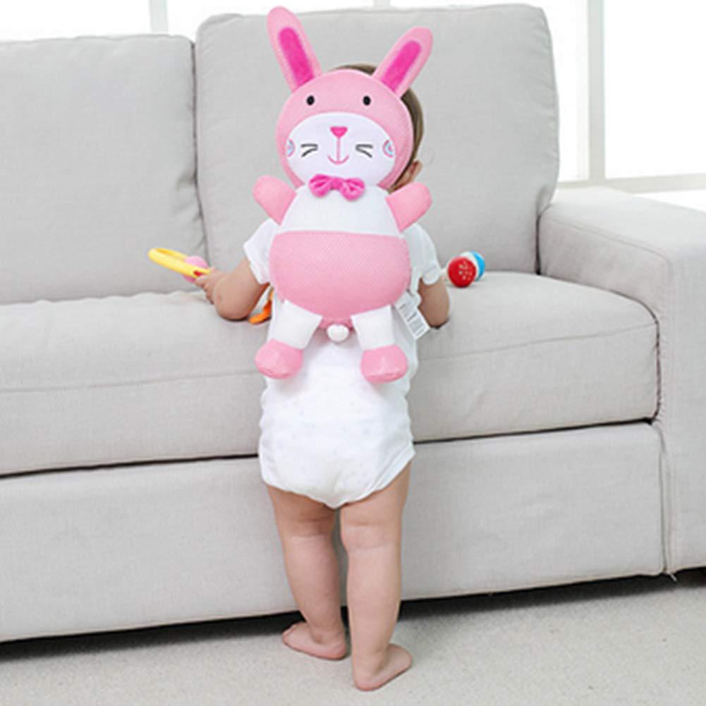 Rosa H/äschen Baby Kopfschutz verstellbarer Sicherheitskissen f/ür Baby Kopf Nacken und Schulter vor Kopfverletzungen beim Krabbeln und Lauflernen geeignet f/ür die Babys Kleinkinder von 4-24 Monate