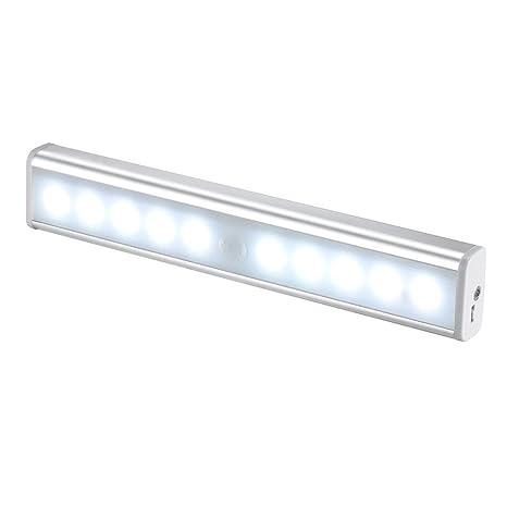 Lámpara Nocturna, USB Recargable Luces Led con Sensor de Movimiento, Luz inalambrica cálida para