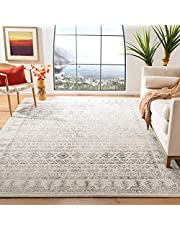 Safavieh Tulum Collection TUL271A Moroccan Boho Distressed Non-Shedding Stain Resistant Living Room Bedroom Area Rug, 8' x 10', Ivory / Grey