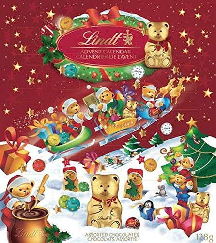 Awesome Shopper Teddy Bear Christmas Countdown Advent Calender Chocolates Candies Surprise 128g