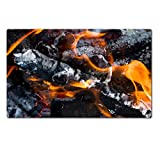MSD Natural Rubber Large Table Mat Image ID 24307934 abstract background burning coals texture