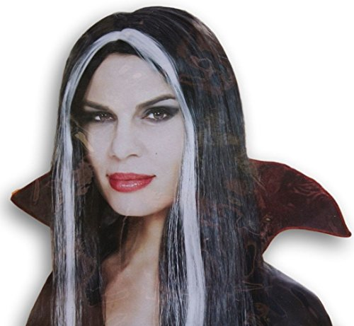 [Adult Halloween Costume Long Witch Wig - Black and Gray] (Walgreens Halloween Costumes)