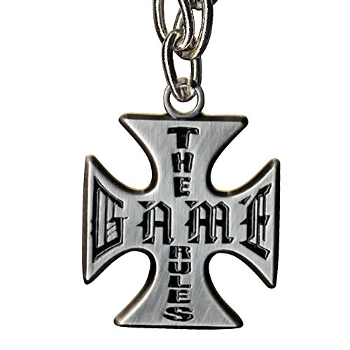 WWE Triple H The Game Rules Cross Pendant Necklace