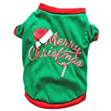 #8: Nesee Pet Shirt, Christmas Pet Dog Puppy Hoodie Sweater Fleece Warm Clothes for Dog Cat (S)