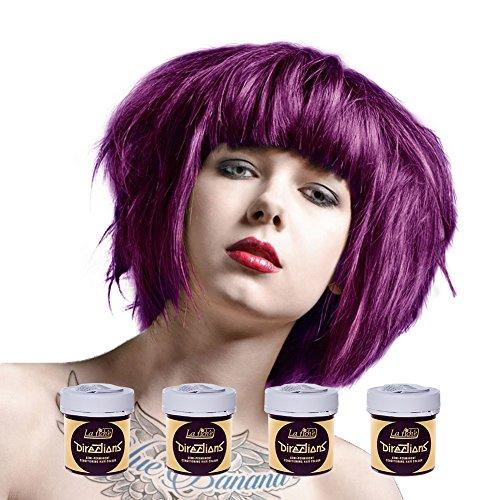 La Riche Directions Colour Hair Dye 4 Pack 88ml (Plum) (Best Plum Hair Dye Uk)