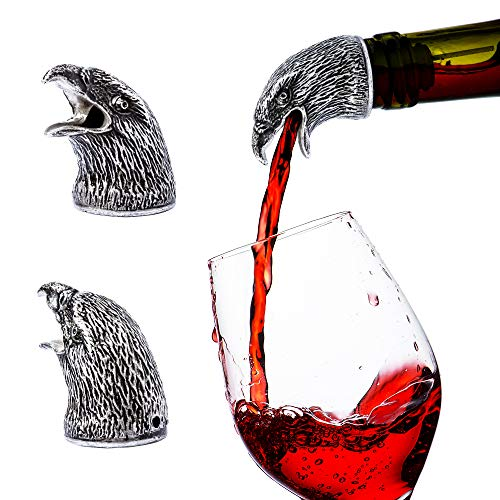 Stainless Steel Animal Wine Pourer & Aerator (Eagle) NEW DESIGNS - Eagle Available