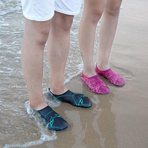 SAGUARO Damen Herren Badeschuhe Wasserschuhe Aquaschuhe Strandschuhe Schwimmschuhe Surfschuhe Schwarz