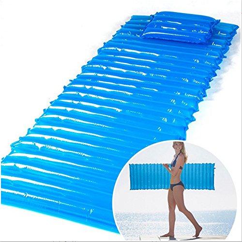 YOPEEN 200 x 60 x 6 cm Aufblasbare feuchtigkeitsdichten Pad Strand Schwimmen Wasser Float Mat Camping Zelt Schlafen Bett Air mattres