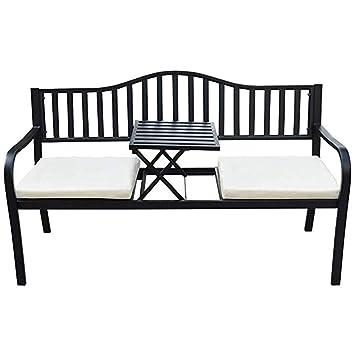 Fantastic Amazon Com Wfl Chair Outdoor Garden Bench Cast Iron Steel Uwap Interior Chair Design Uwaporg