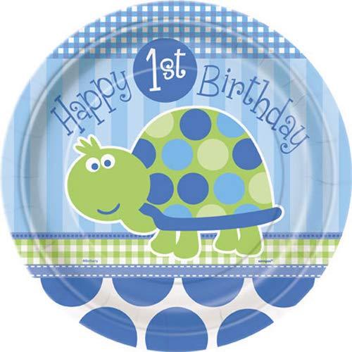 Turtle 1st Birthday Dessert Plates, 8ct]()